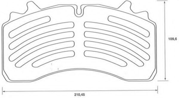 новая тормозная колодка WABCO 22.5 BERAL 29162 SAF для полуприцепа