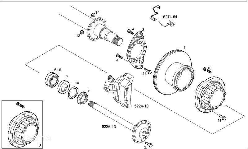 новый тормозной диск IVECO 2995812 2996328 7185503 7189476 для грузовика IVECO STRALIS