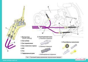 новый трос переключения передач МАЗ (М6333.06450 -) для автобуса МАЗ