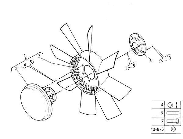 вентилятор охлаждения Ventilador Viscoso Scania Serie 4 (P/R 164 L)(2001->) FG       4 (1766909) для тягача SCANIA Serie 4 (P/R 164 L)(2001->) FG 480 (4X2) E3 [15,6 Ltr. - 353 kW Diesel]